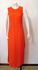 $545 Intermix A.L.C. Orange Lowry Crepe Side Slit Mid Length Sheath Dress 4 NWT