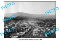 OLD LARGE PHOTO FEATURING ZEEHAN TASMANIA VIEW OF THE TOWNSHIP c1900