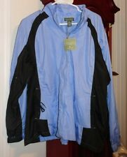 2X NWT Ladies Womens Woman Sport Mountain Lake Coat Jacket Zip Blue Black Lined