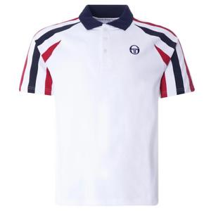 Sergio Tacchini Mens Blow Polo Shirt White Various Sizes