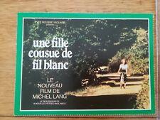 FICHE CINÉMA Première FILM - Une fille cousue de fil blanc