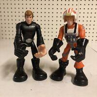 Star Wars Jedi Force Luke Skywalker Playskool Lot of 2 Action Figure Hasbro 2004