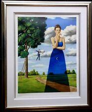 Gallery Framed Limited Edition Print. Rafal Olbinski. Midsummer Marriage. Signed