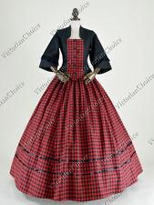 Victorian Civil War Dickens Pioneer Women Dress Ball Gown Theater Costume  160 L b733537ec