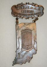 Antique S.G.L.-I.O.O.F 1911 Odd Fellows Official Badge Indianapolis IN Exc Cond