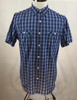 Cremieux Shirt Mens Large NWT Blue Navy Plaid Cotton