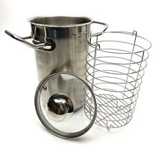 """Tabletops Unlimited Invitations Stainless Steel Steamer Basket Lid 9"""" x 6"""" EUC"""