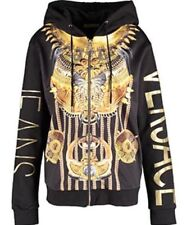e0273b14de9f VERSACE JEANS BLACK   GOLD PRINT HOODY WITH FRONT ZIP SIZES ...