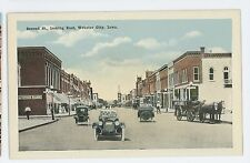 Old Cars on Second St WEBSTER CITY IA Vintage Hamilton County IA Postcard