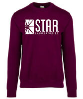 The Flash Star Laboratories Adults Sweatshirt Jumper DC Universe Barry Allen