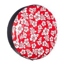"""27"""" Hawaiian - Rigid Tire Cover - Red Print - Honda CRV"""
