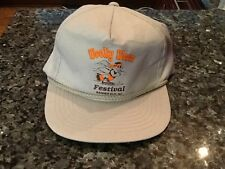 Woolly Worm Festival Banner Elk NC Trucker Hat Gray With Screened LOGO NWOT!