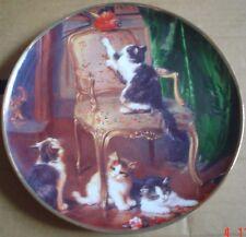 Franklin Mint Collectors Plate KITTEN MISCHIEF Kitten Cat