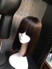 """772 Glam 14"""" Bang Cut Human Hair Medical Wig Unit"""