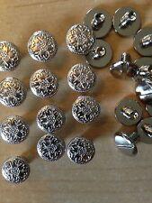 "25 Pa  Floral Nickel Plate Brass Chicago Screws 1/4"" Belts Bridles Hard To Find!"
