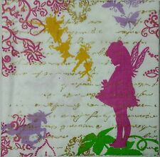 FAIRY TALE  2 individual LUNCH SIZE paper napkins for decoupage  3-ply