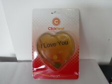 click heat heart shaped hand warmers
