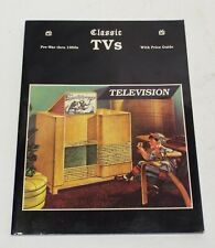 CLASSIC TVS Pre-War-1950s Price Guide & Identification BOOK Scott Wood