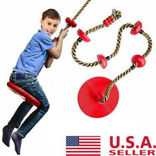 Rope Swing with Disc Seat Rope Ladder for Kids Outdoor Tree Backyard Playground