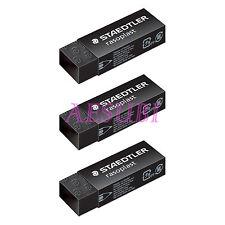 3 X STAEDTLER rasoplast 526 B20-9 eraser BLACK line design