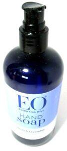 EO Essential Oils Liquid Hand Wash Soap French Lavender 12oz *Broken Pump Top*