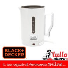 Bollitore Elettrico 500 ml 1000W colore bianco da viaggio Black & Decker DC1005