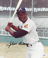 BRAVES Hank Aaron signed photo 8x10 JSA COA AUTO Autographed Atlanta Milwaukee