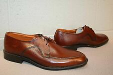 Mens Deadstock 8.5 Nos Vtg 1970s Sandy McGee Oxford Rust Brown Leather 70s Shoe