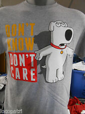 Mens Licensed Family Guy Brian Griffin Don't Know Don't Care Shirt New M