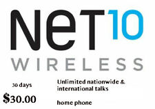 Net10 $34.99 home phone 1 Month - Airtime Refill Plan W/ Unlimited Talk -