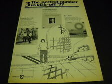 ANGELO BRANDUARDI Le Orme and others Original 1977 Promo Display Ad mint cond.