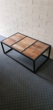 Industrial chic coffee table and side table. Solid!!