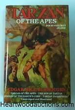 TARZAN of The APES by Edgar Rice Burroughs 4vols