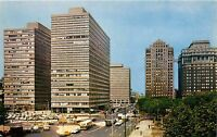 Philadelphia, New Penn Center Plaza, old cars cabs taxi bus 1960's