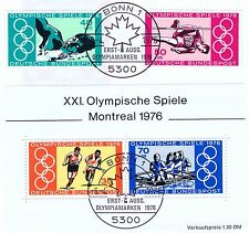 FRG 1976: Olympic Games no. 886 + 887 and Block 12! Bonner Stamp! 1A! 153