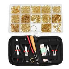 New Beaded Earring Jewelry Finding Making Tool Kit Storage Case Box Huge Lot