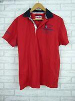 Pierre Cardin Sailing Polo T-Shirt Red, Navy Blue Sz XL Mens