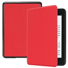 For Amazon Kindle Paperwhite 4 2018 Case Leather Lightweight Flip Skin Red Cover