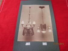 alte Bildtafel, altes Foto auf Pappe - 2 seltene Lampen - wohl um 1900  /S54