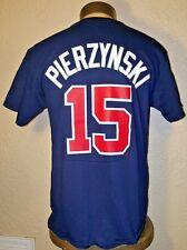 NEW Majestic MLB Atlanta Braves #15 AJ Pierzynski Jersey T-Shirt Mens Medium (M)