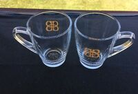 Set Of 2 Baileys Original Irish Cream Glass Coffee Mugs Cups