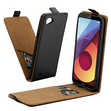 New Pouch  Black Protective Flip Leather Skin Phone Case Cover  For LG Q6