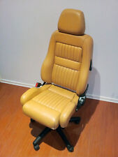 Alfa Romeo Seat Office Chair Leather Height & Tilt Adjustable Genuine GTV TAN