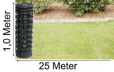 Schweißgitter-draht Gartenzaun Gitterzaun 100 cm x 25 m grau anthrazit Drahtzaun