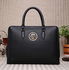 Genuine leather handbag with a lion emblem
