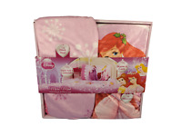 Disney Princess Micro Mink Sheet and Pillowcase Set Ariel, Belle, Aurora NEW