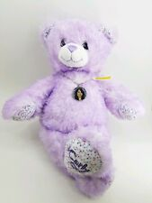 """Build a Bear Retired 17"""" Tall iCARLY Purple Sparkly Plush Animal w/ Necklace"""