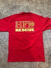 state of hawaii fire and rescue shirt, red, size L