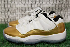 Nike JORDAN 11 GOLD WHITE win line red retro 1 3 528896 103 GS YOUTH 57f23ca75