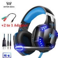 Cuffie Da Gioco Auricolare Gaming Headphone Microfono LED Per PS4 XBOX ONE G9J6